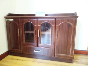 MDF Laminated with Veneer Painting Luxury Cabinet for Hotel (HY-511) pictures & photos
