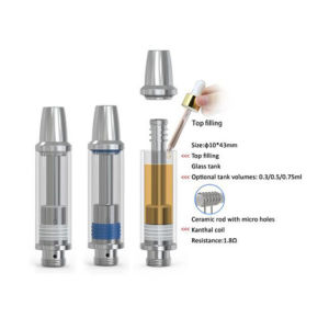 100% Ceramic Wickless Glass Cartridge for Cbd Oil Vape pictures & photos