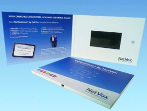 LCD Video Brochure Cards for Presentations Digital Advertising Player 4.3 Inch Screen Video Screen Cards pictures & photos
