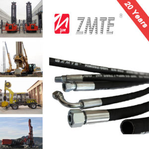 "En 853 2st 1/4′′-2"" * 2 Wire Braided Hydraulic Rubber Hose pictures & photos"