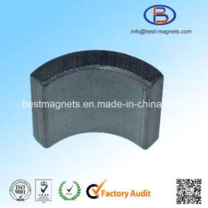 10 Years More Experience ISO Supplier of High Quality Ferrite Arc Magnet for Motor pictures & photos