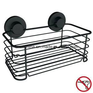 Large Tray or Shelf with Suction Cup, Matt Black, Steel