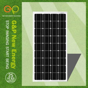 Gp 100W High Efficiency Solar Panel with Black Frame pictures & photos