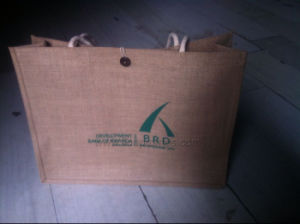 Custom Logo Promotional Jute Shopping Bag pictures & photos