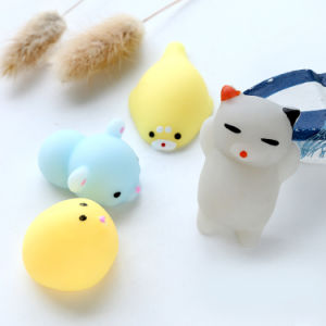 Squishy Cat Soft Silicone Animal Squishy Toy Relieve Stress Fidget pictures & photos