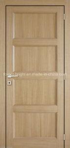 4 Panels White Oak Traditional Style Veneer Wooden Door pictures & photos