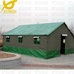 4 Person 3 Layers Green Canvas Cotton Tent