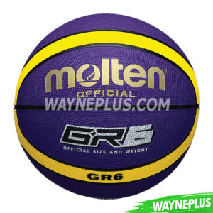 Wholesale Price Office Size 7 Custom Logo Cheap Rubber Basketballs pictures & photos