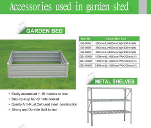 Garden Shed with Its Accessories pictures & photos