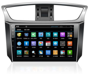 "10.1"" Big Screen Android 4.4 Car GPS Navigation for Nissan Sylphy with 1024 * 600 Resolution and DVR Camera Input"