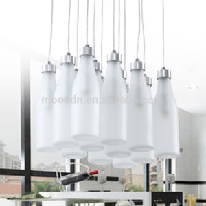 Modern Design Child Cute Creative Jar White Hand Blown Milk Bottle LED Glass Pendant Light for Bar and Club pictures & photos