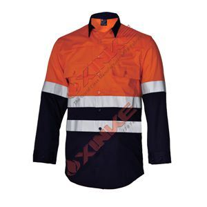 SGS Safety Cotton Fire Retardant Clothing with Reflective Tape