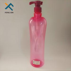 Free Samples Pink Color 800ml Unique Pet Plastic Pump Bottle pictures & photos