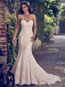 Strapless Bridal Gowns Lace Mermaid Simple Wedding Dresses Z2041 pictures & photos