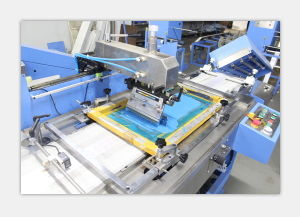 Polyester Satin Labels Automatic Screen Printing Machine Factory Saling pictures & photos