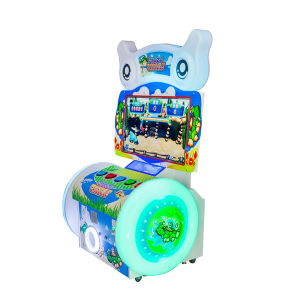 Hot Sell Kids Crazy Crocodile Video Simulator Coin Operated Lottery Game Machine pictures & photos