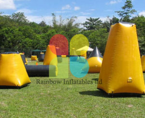 Airtight Commercial Grade Inflatable Paintball Bunkers for Sale/Inflatable Adutls Shooting Range pictures & photos