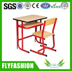 Durable Wooden Single Student Desk and Chair School Furniture (SF-71S) pictures & photos