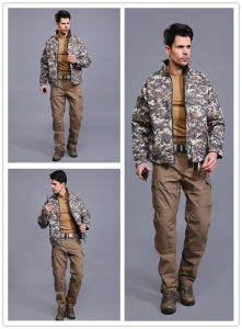 Acu Outdoor Softshell Waterproof Windproof Jacket Military Tactical Commander Coat pictures & photos