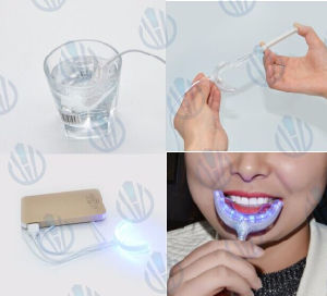 Connected with iPhone One Adapter Mini LED Teeth Whitening Light pictures & photos