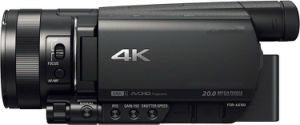 Original Ax100 Portable 4K Video Camera HD Flash Memory Camcorder pictures & photos