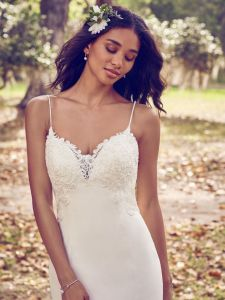 Lace Wedding Dress Spaghetti Mermaid Simple Mermaid Bridal Gown H196 pictures & photos