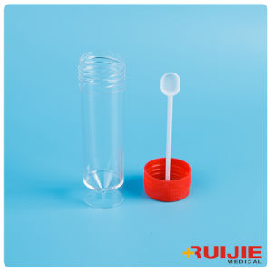 Disposable Plastic 30ml Stool Container with Spoon pictures & photos