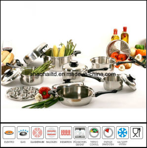 18PCS 18/8 Surgical Stainless Steel Cookware Set pictures & photos