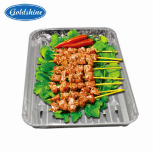 Aluminum Foil Tray for BBQ (F2523-K) pictures & photos