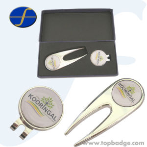 2015 Hot Sale Custom Logo Silver Metal Gift Golf Divot Tool and Ball Marker (FTGF1818A) pictures & photos