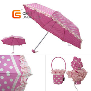 5 Folding Mini Umbrella with Ruffles Trimming (YS-5F1002A) pictures & photos