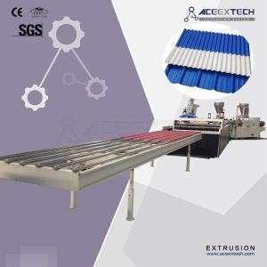 ASA PMMA Coated Plastic PVC  Corrugated/Trapezoid/Wave/Transparent/Translucent/Rroof Tile/Sheet  Extrusion Production Extruding Making Extruder Machine