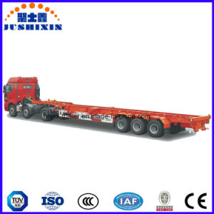Three BPW/Fuwa Axles Skeleton Heavy Duty Container Semi Trailer pictures & photos
