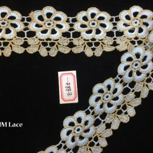 5.5cm Golden Lace Fabric for Open Back Wedding Dress, Bohemian Bridal Clothes Hme885 pictures & photos