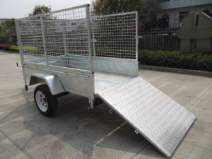 Checker Steel Floor Cage Trailer