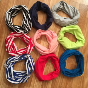 9 Colorful Baby and Children Cotton Kids Plain and Stripy Neck Warmer Scarf Factory