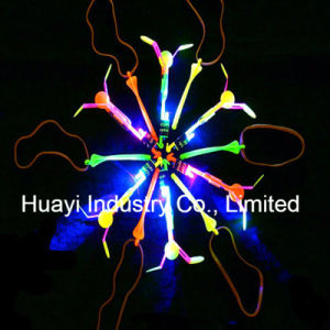 LED Light up Spinning Flying Glow Copter Toy pictures & photos