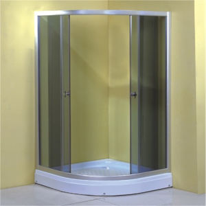 Bathroom Chrome Frame Sliding Grey Glass Shower Room 90 pictures & photos