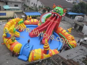 Inflatable Dragon Slide and Pool (JOLINDING1) pictures & photos