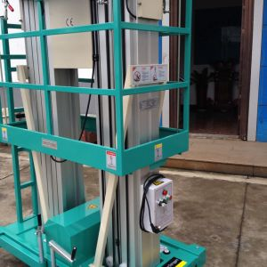 Hydraulic Dual Mast Aerial Work Platform (Max Height 9m) pictures & photos