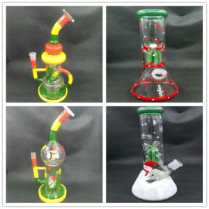 Popular Glass Recycler Glass Water Smoking Pipe with Various Designs pictures & photos