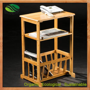 Bamboo Newspaper/Magazine Rack for Floor Stands (EB-B4100) pictures & photos
