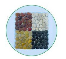 White Mosaic Pebbles