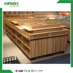 Wood Promotional Supermarket Vegetable and Fruit Display Table pictures & photos