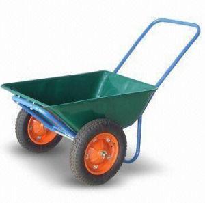 Wheelbarrow with 3cbf Sand Capacity, Pb-Free and UV-Resistant Powder Coating