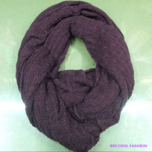 2014 Ladies Warm Winter Fashion Acrylic Knitted Scarf pictures & photos