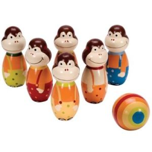 Wooden Mini Monkey Bowling (WD5127)