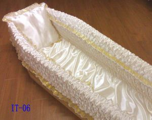 100% Polyester Satin Coffin Lining and Casket Interiors