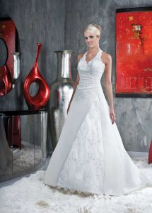 Elegant Halter Wedding Dress and Bridal Gown (DAVINCI040)