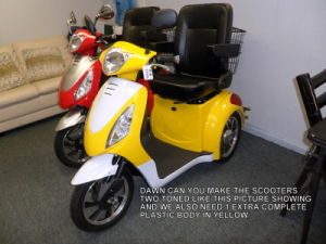 Mobility Scooter Es-008b Yellow/Sliver